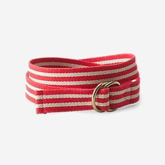 Webbed D-Ring Belt in Red