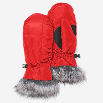 Women's Lodge Down Mittens in Red