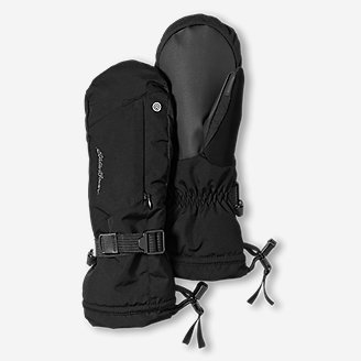 Powder Search Touchscreen Mittens in Black