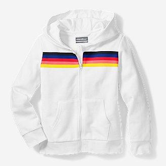 Girls' Pacific Beach Full-Zip Hoodie in White