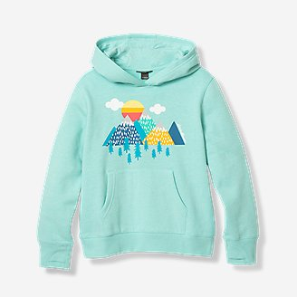 Girls' Graphic Camp Fleece Hoodie in Blue