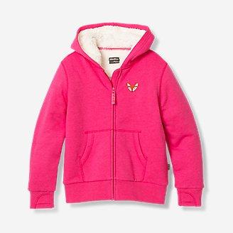 Girls' Camp Fleece Lined Hoodie in Red