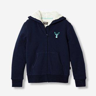 Girls' Camp Fleece Lined Hoodie in Blue