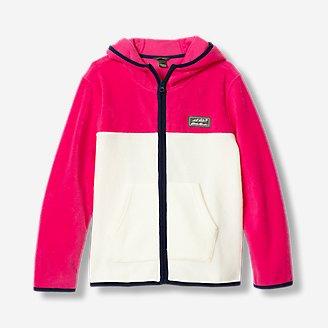 Girls' Quest Fleece Full-Zip Hooded Jacket in Beige