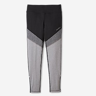 Girls' Extra Mile Trail Tight Leggings - Colorblock in Gray