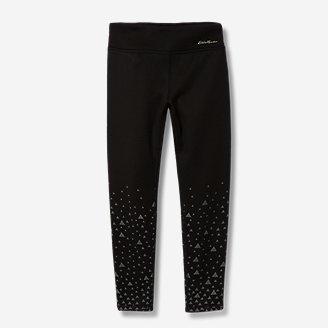 Girls' Extra Mile Plush-Lined Leggings - Print in Gray