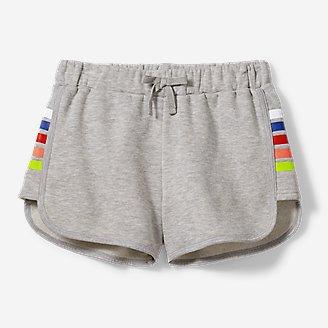 Girls' Camp Fleece Shorts in Gray
