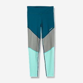 Girls' Extra Mile Trail Tight Leggings - Color Block in Blue