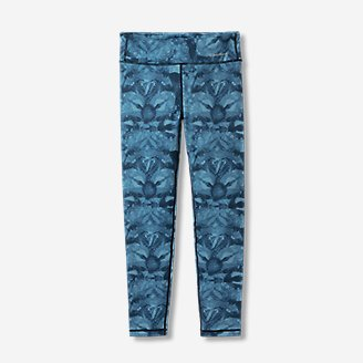 Girls' Extra Mile Trail Tight Leggings - Print in Blue