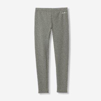 Girls' Rock Hopper Plush-Lined Leggings in Gray