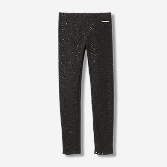 Girls' Rock Hopper Plush-Lined Leggings - Sparkle in Gray
