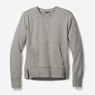 Girls' Infinity Kangaroo Crew Sweatshirt in Gray