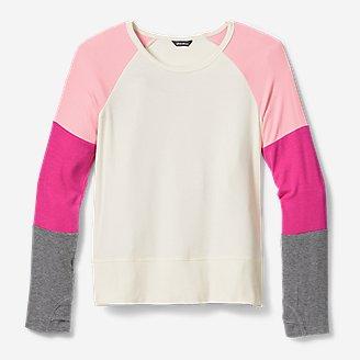 Girls' Long-Sleeve Color-Blocked T-Shirt in Beige