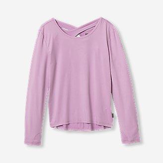 Girls' Cross Back Trail T-Shirt in Purple