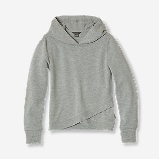 Girls' Infinity Crisscross Hoodie in Gray