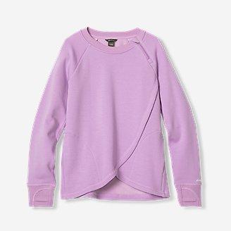 Girls' Infinity Wrap-Front Sweatshirt in Purple