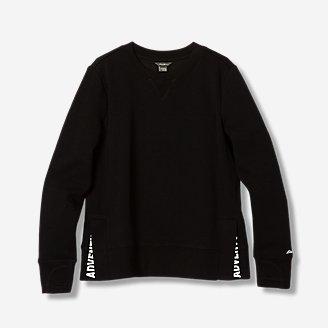 Girls' Infinity Side-Vent Sweatshirt in Gray