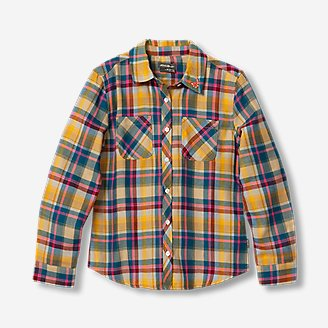 Girls' Stine's Favorite Flannel Shirt - Plaid in Blue