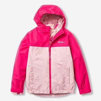 Girls' Lone Peak 3-In-1 Jacket in Red