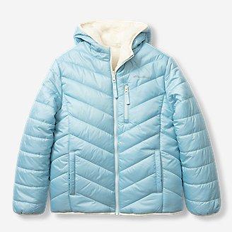 Girls' Deer Harbor Reversible Hooded Jacket in Blue