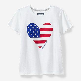 Girls' Americana T-Shirt in White
