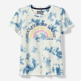 Girls' Summer 3D Graphic T-Shirt in White