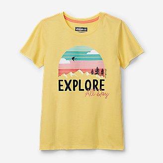 Girls' Summer Graphic T-Shirt in Yellow