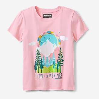 Girls' Graphic T-Shirt in Red
