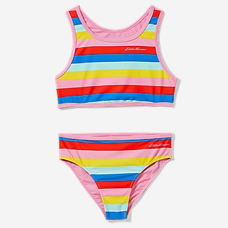 Girls' Sea Spray Reversible 2-Piece Swimsuit in Red