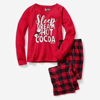 Girls' Quest Fleece Sleep Set in Red