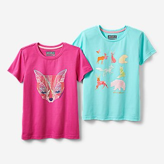 Girls' Graphic T-Shirt Bundle in Red