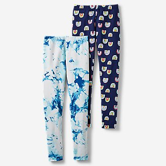 Girls' Rock Hopper Stretch Leggings Bundle - Print in Blue