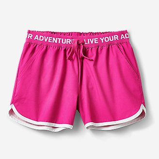 Girls' Trail Active Shorts in Red