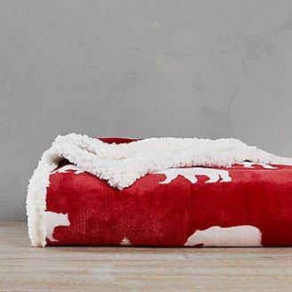 Cabin Fleece Throw in Red