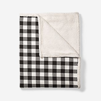 Cabin Flannel Throw in Black
