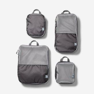 Carrés d'emballage Travelon - Paquet de 4 en gris en gris