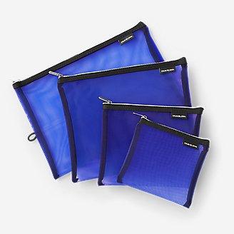 Travelon Lot de 4 pochettes de voyage en filet bleu en bleu