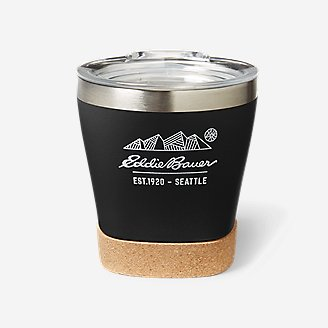 8 oz Double-Wall Tumbler w/ Removable Cork Bottom in Black