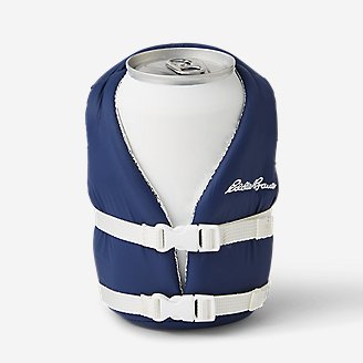 Puffin Life Jacket Can Cooler in Blue