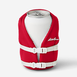 Puffin Life Jacket Can Cooler in Red