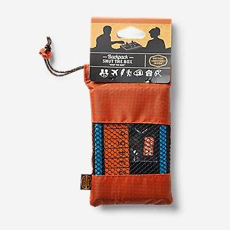 Outside Inisde Backpack Shut-The-Box Game in Orange