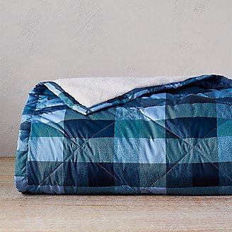 Eddie Bauer Packable Down throw Bijou Blue