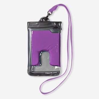 Travelon Large Waterproof Phone Pouch in Purple