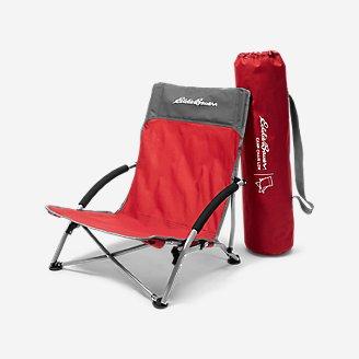 Chaise de camp - basse en rouge en rouge