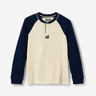 Boys' Basin Henley Shirt - Color Block in Beige