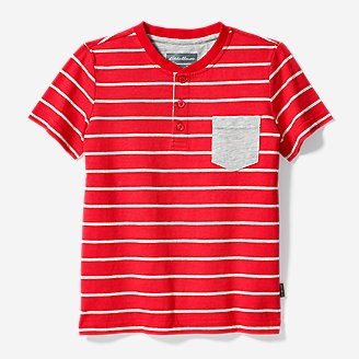 Boys' Territory Short-Sleeve Henley T-Shirt in Red