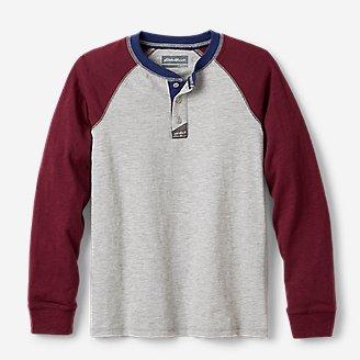 Boys' Basin Henley Shirt - Colorblock in Gray