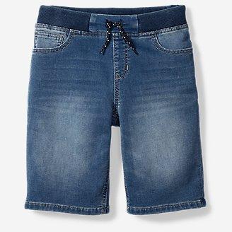 Boys' Flex Knit Denim Pull-On Shorts in Blue