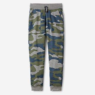 Boys' Camp Fleece Jogger Pants in Green