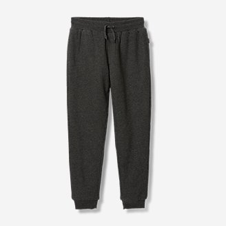 Boys' Camp Fleece Faux Shearling-Lined Jogger Pants in Gray